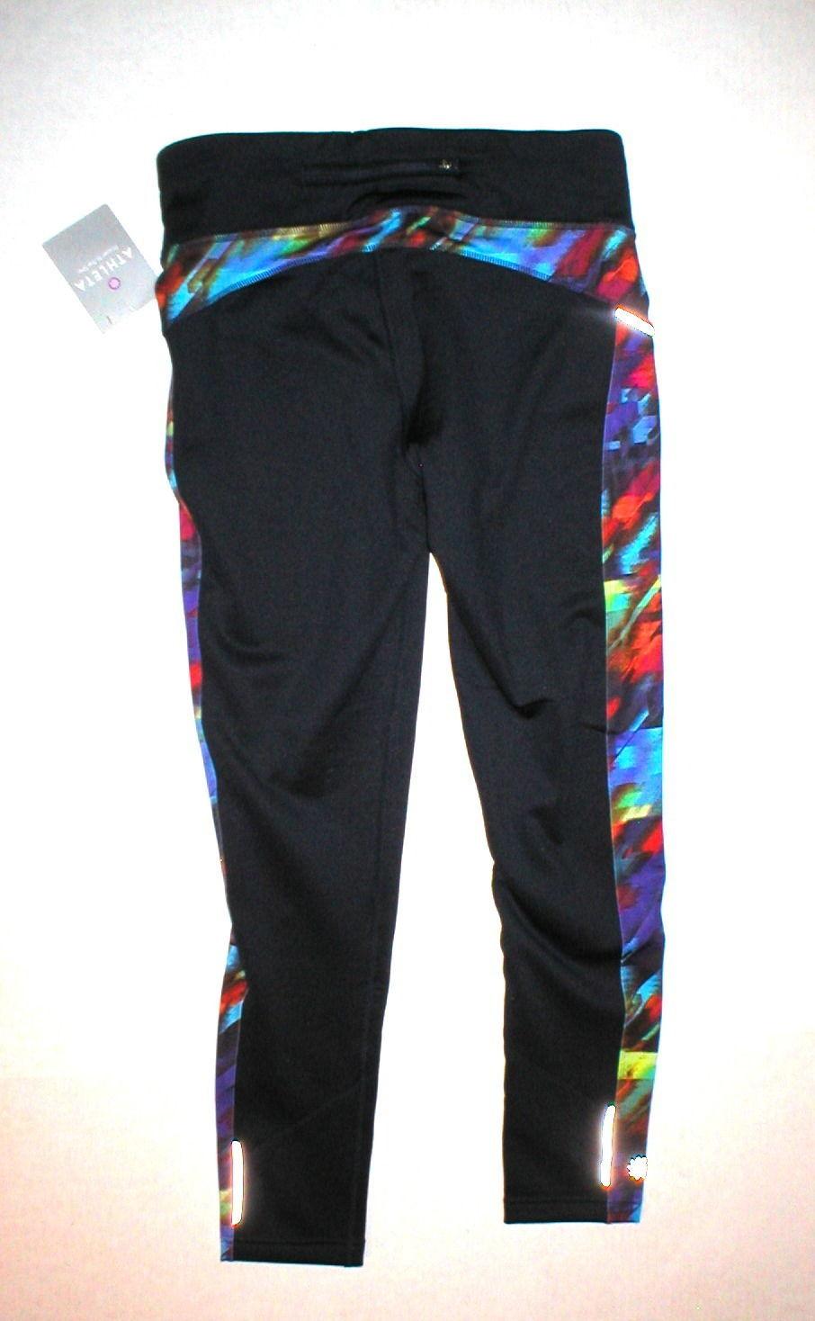 3cc42b47c33ee7 Womens Athleta NWT New Warm Power Lift Legging Lined Pants Winter XL Blue  Red
