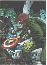 Captain America vs. Red Skull Marvel Masterpieces Spectra-Etch card #5-D 1992 NM - $4.99