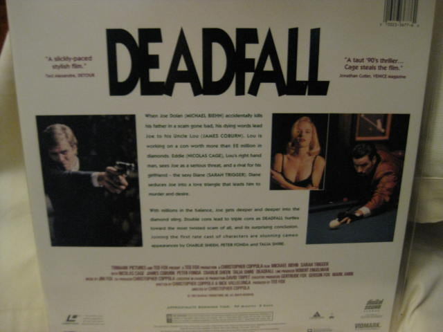 LaserDisc - DEADFALL