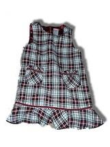 Girls Gymboree Traditions Plaid Jumper Dress sz 2T Holidays Christmas - $12.24