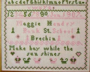 Maggie Hendry 1907 Antique Sampler Reproduction cross stitch Samplers Revisited