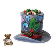 "Boyds Treasure Box ""Klondike's Top Hat with Holly"" #4041914- NIB -2014-Retired - $24.99"