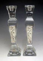 Crystal & Sterling Silver Candlesticks 272729 [Kitchen] - $108.40