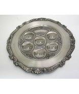 Passover Pesach Round Pewter Seder Plate [Kitchen] - $23.74