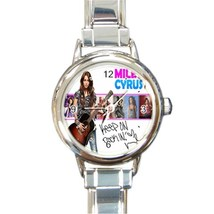 New Hot Miley Cyrus Women Round Italian Charm Watch wristwatch Gift - $8.50