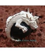 925 Silver & Dragon Black Chime Ball CH-287-DG - $21.13