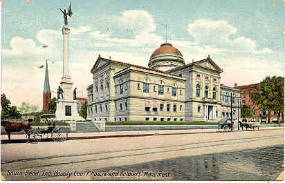 County Court House South Bend Indiana1912 Post Card