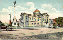 County Court House South Bend Indiana1912 Post Card - $2.00
