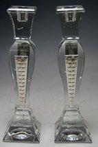 Crystal & Sterling Silver Candlesticks 2727298 [Kitchen] - $148.50