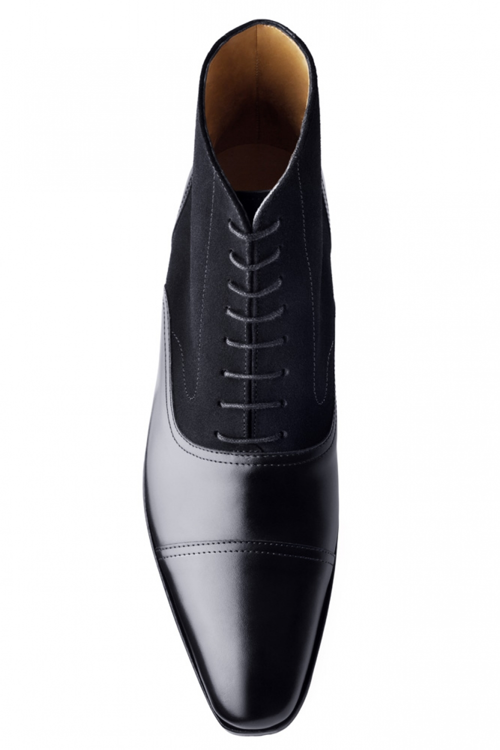 handmade mens black leather boots mens ankle high oxford