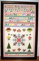 Madora Christie 1890 Antique Sampler Reproduction cross stitch Samplers Revisite - $10.00