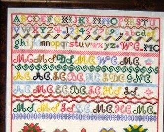 Madora Christie 1890 Antique Sampler Reproduction cross stitch Samplers Revisite