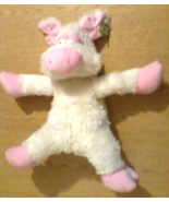 Plush Pig Squeezable Huggable Squooshy Fluffy Sparkle Furry Pink Pig Stu... - $35.99