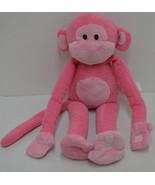 "Animal Adventure Pink Monkey Plush Velcro Hands Feet Sweet Sprouts Lovey 14"" - $29.70"