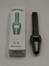 C.S.Osborne & Co. No. 149-11mm Arch Punch with Fully Tempered Cutting Edge - $27.71