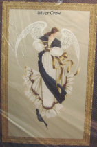 Vintage Counted Cross Stitch Pattern Lavender & Lace Angel of Hope - $12.99