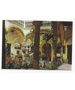 Spain Seville Andalusian Court Garden Patio Vintage Postcard 4X6 Sevilla - $5.69