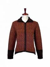 Embroidered Jacket, Blazer made with Alpaca wool - $185.00