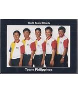 JOSE PARICA, JR., EFREN REYES, FRANCISCO BUSTAMANTE, World Team Philippi... - $9.95