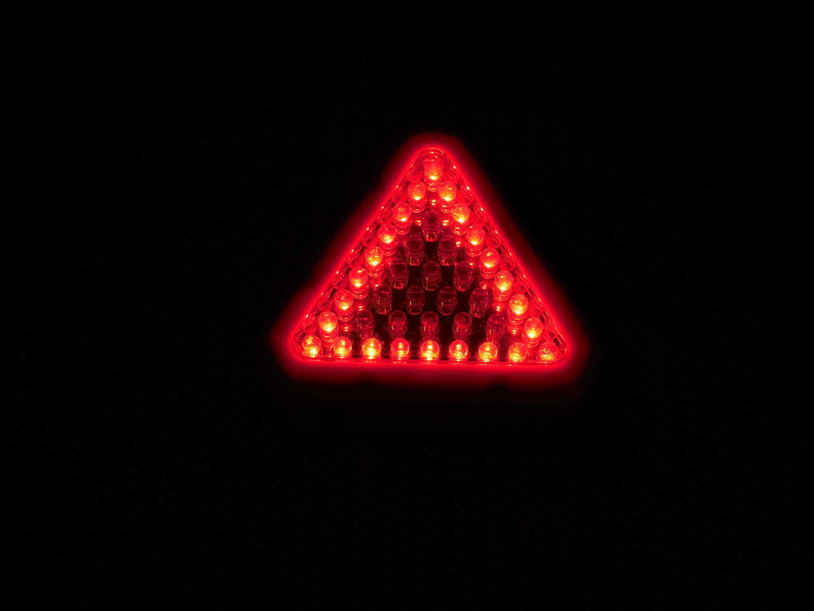 EXTRA BRIGHT BLUE WHITE HD 39 LED MAGNET/HOOK HANG RED SAFTEY TRIANGLE LIGHT