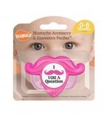 Mustache Accessory and Pacifier Set - Pink 0-6M - $9.99