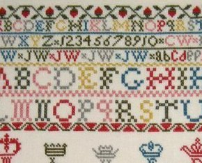 Jessy Walker 1844 Antique Sampler Reproduction cross stitch Samplers Revisite
