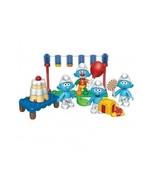 Game Childs Toy Building Blocks Mega Smurfs Party Celebration Playset Bl... - $26.72