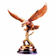 Eagle In Flight Quality Lost Wax Bronze Statue - $682.86