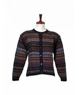Cardigan,Jumper knitted of pure Alpaca wool - $185.00