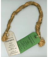 Newport  Claremont NH vintage souvenir football rope tags 1940  - $32.00