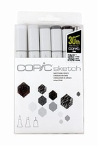 Copic Sketch Markers 5/Pkg W/Multiliner Pen, Sketching Grays - $29.95