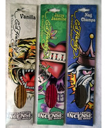 INCENSE ED HARDY LONG LASTING OIL BASED SET OF 3 SCENTS / NEW IN PACK - $10.00