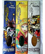 INCENSE ED HARDY LONG LASTING OIL BASED SET OF 3 SCENTS/ NEW IN PACK - $10.00