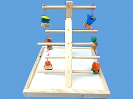 BIRD TOY PLAY GYM,PLAY PEN-LOTS A TOYS-LADDER STYLE GYM - £14.65 GBP