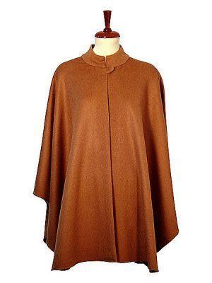 Brown Poncho Cape,made of  Babyalpaca wool