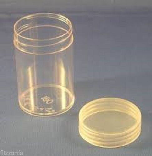 Round Large Dollar Coin Tubes 38mm by BCW 5 pack