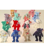 Beanie Babies Lot of 14 Ty Plush Erin Princess Cheery Peace Clubby Bears - $42.06