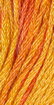 Orange Marmalade (0580) 6 strand hand-dyed cotton floss Gentle Art Sampler  - $2.15