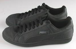 PUMA Men's Smash Knit C Black Casual Athletic Sneakers Gym Shoes image 2