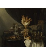 Gerrit Willemsz. Heda - Still Life with a Nautilus Cup - 40x50 inch Canv... - $159.00