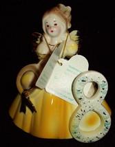 Josef Originals Birthday Angel Girl Age 8 Eight with Tag Yellow Figurine... - $14.84