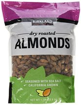 Kirkland Dry Roasted Almonds Net wt 1.13kg(2.5 lb) - $27.71