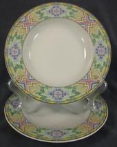 Christopher Stuart Rising Sun Y0264 Large Rimmed Soup Bowl Lot of 2 Azte... - $12.95
