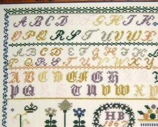 HB 1867 Antique Sampler Reproduction cross stitch chart Samplers Revisited