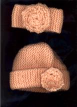 Baby Peach Hat and Earwarmer - $10.00