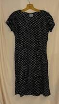 Black with White Polka Dot Dress-4  (vintage?) - $10.00