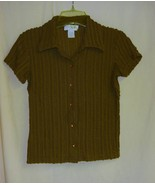 Express Brown fitted retro Shirt~ XS - $5.00