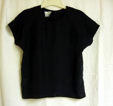Black Silky vintage Top size M - $5.00