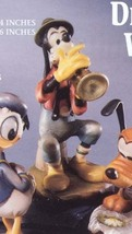 Disney Anri Woodcarving Goofy & Horn  Figure made in Italy 12/14 - $492.24
