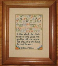 Ellen Milne 1804 Antique Sampler Reproduction pattern Samplers Revisited - $9.00